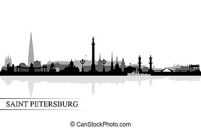 Saint Petersburg city skyline silhouette background