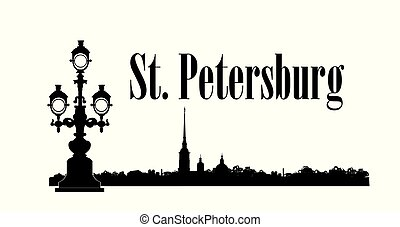 Saint-Petersburg city view, Russia. St. Isaac's cathedral skyline. Russian travel background.