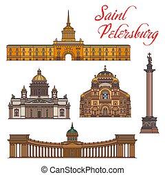 Saint Petersburg landmarks and buildings