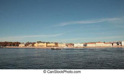 Saint Petersburg Landmarks - Neva river embankment