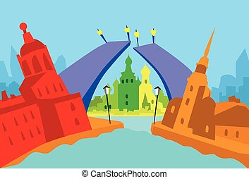 Saint Petersburg Russia Abstract Skyline City Skyscraper Silhouette