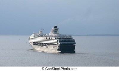 Mein Schiff 2 set sail from port - SAINT PETERSBURG, RUSSIA...