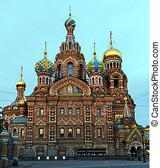 "Saint Petersburg, Russia, Orthodox Church ""Spas na Krovi""."