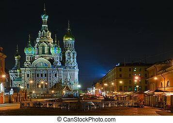 "Saint Petersburg, Russia,  Orthodox Church \""Spas na Krovi\"""