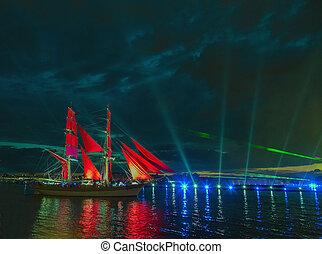 Scarlet sail - SAINT-PETERSBURG, RUSSIA Sailfish with ...