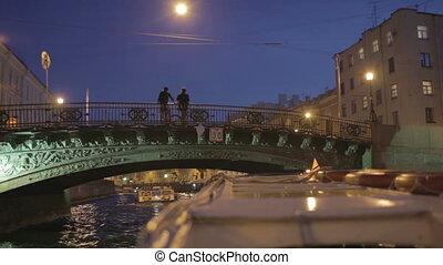 Saint Petersburg. - Sail on river boat in Saint Petersburg ...