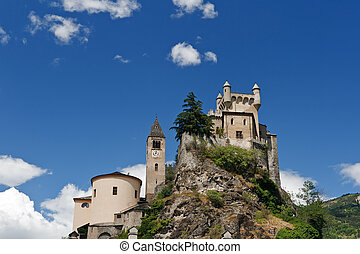 Saint Pierre castle and church, Italy