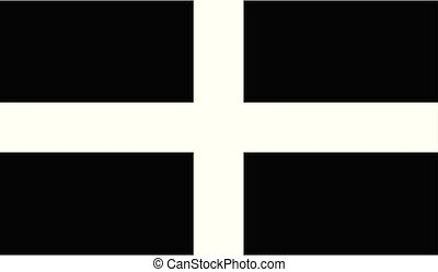Saint Pirans Flag Of Cornwall - The flag of the English ...
