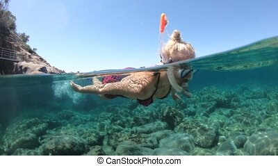 saint, plage, snorkeling, andrew, elba, île