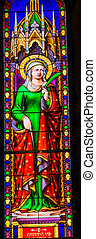 Saint Reparata Stained Glass Baptistery Cathedral Pisa Italy