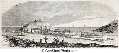 Saint Sebastien bis - Old view of Saint Sebastien, in the...