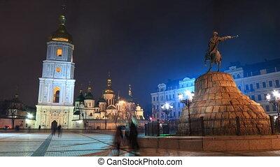 Saint Sophia Cathedral in Kiev time
