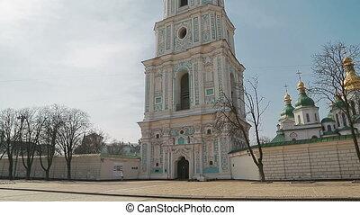 Saint Sophia Cathedral tower at Sofiiska square.