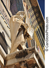 Saint statue.
