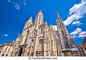Saint Stephens Cathedral in Vienna view, capital of Austria