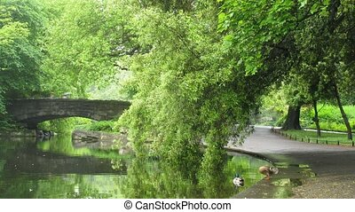 Saint Stephens Green Park in Dublin, Ireland.