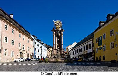 Banska Stiavnica, Slovakia - Saint Trinity Square, Banska ...