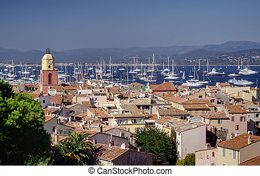 Saint Tropez city, Mediterranean Sea, France