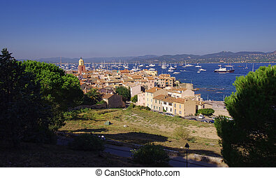 Saint Tropez city view