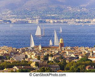 Saint Tropez city view