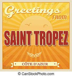Saint Tropez, Cote d'Azur poster - Vintage Touristic...