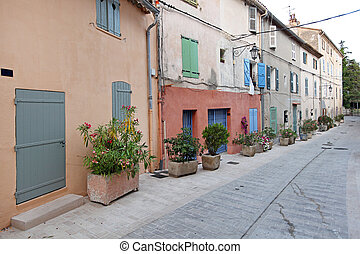 Saint Tropez Houses - Street With Traditional Houses in...