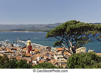 Saint Tropez, look on Gulf, France - Saint Tropez, look on...