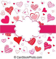 saint-valentin, carte