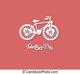 saint-valentin, carte, salutation