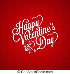saint-valentin, vendange, lettrage, fond