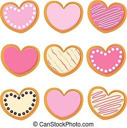 Saint Valentine Heart Cookies