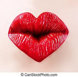 saint valentine lips - heart shape sexy lips for saint...