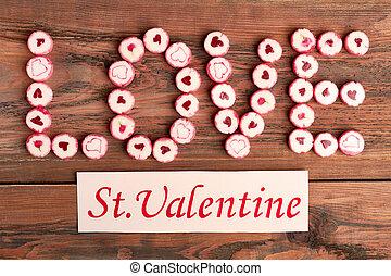 Saint Valentine's Day greeting card.