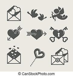 saint valentine's day set icon