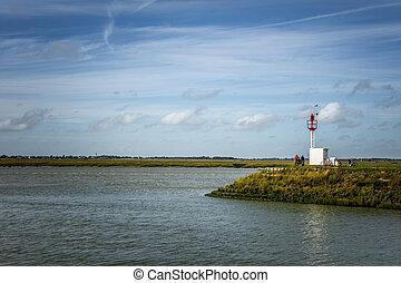 saint-valery, 湾, ヨーロッパ, フランス, somme