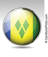 Saint Vincent and the Grenadines flag button