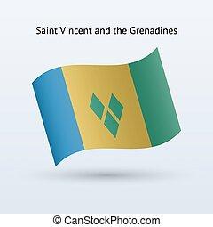 Saint Vincent and the Grenadines flag waving form. - Saint...