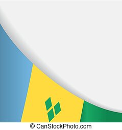 Saint Vincent and the Grenadines flag background. Vector...