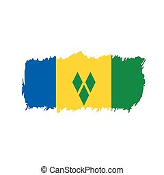 Saint Vincent and the Grenadines flag, vector illustration...