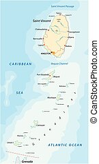 saint vincent and the grenadines map - saint vincent and the...
