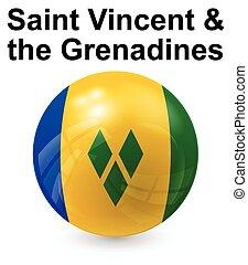 saint vincent and the grenadines state flag - saint vincent...