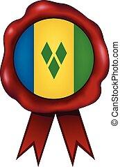 Saint Vincent And The Grenadines Wax Seal - Saint Vincent...