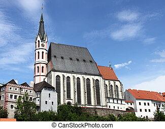 Saint Vitus church in Cesky Krumlov, Czech Republic
