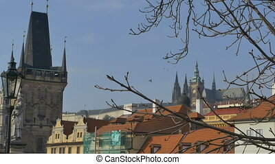 Saint Vitus View in Prague - Distance view of Saint Vitus...