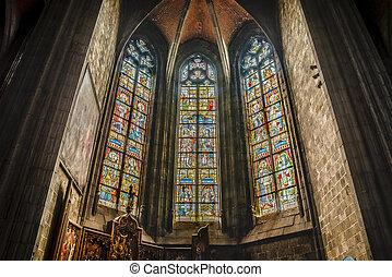 Saint Waltrude church in Mons, Belgium. - Saint Waltrude (...