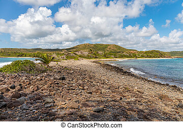 Sainte-Anne, Martinique, FWI - Ferr? Cape and Grande Anse beach