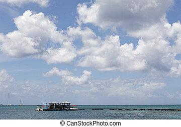 Sainte-Anne, Martinique, FWI - Jetty on Pointe Marin beach