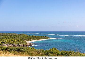 Sainte-Anne, Martinique, FWI - Mar?e cape - Anse Baleine beach
