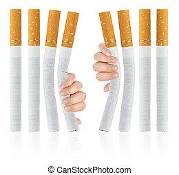 sair, fumar