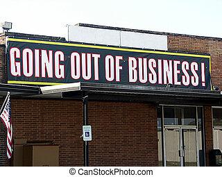 sair negócio, sinal